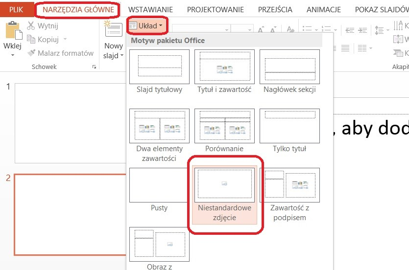 Tworzenie wzorca slajdów PowerPoint