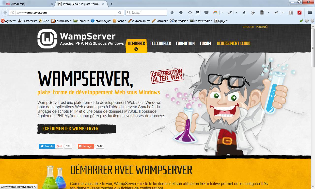 Instalacja WampServer