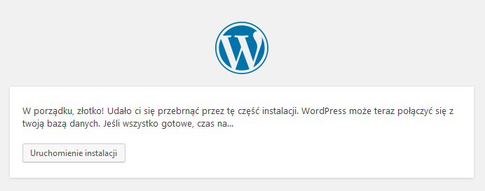 Uruchomienie instalacji WordPress na lokalnym serwerze