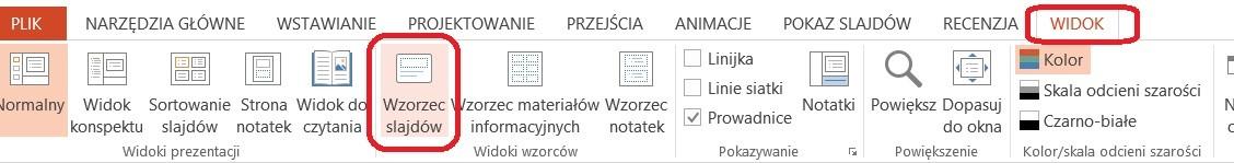 Własny układ slajdów PowerPoint - wzorzec slajdów
